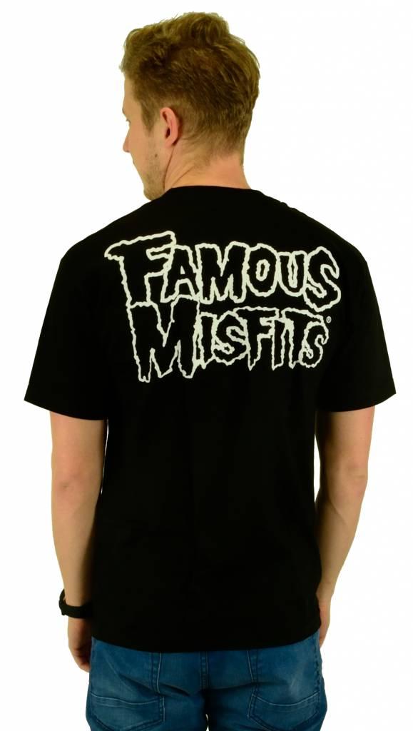 Famous Stars and Straps Misfits Badge T-Shirt Black