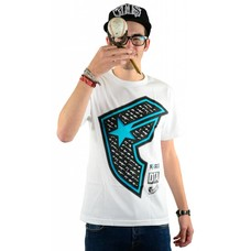 Famous Stars and Straps Gunshow Boh T-Shirt White/Aqua