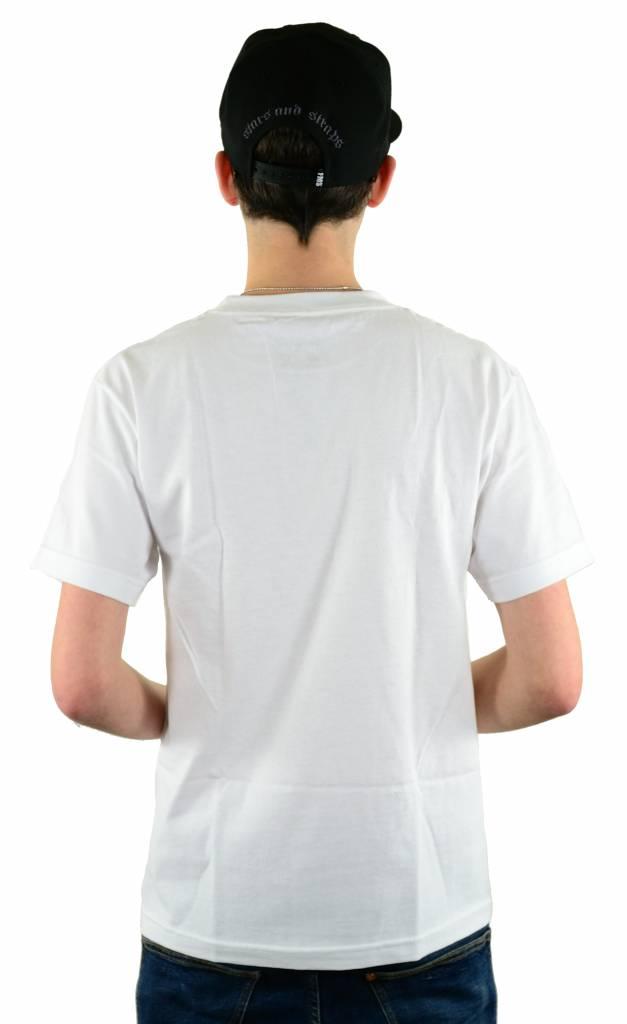 Famous Stars and Straps Gunshow Boh T-Shirt White/Aqua