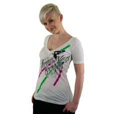 Famous Stars and Straps Duncan V-Neck T-Shirt White