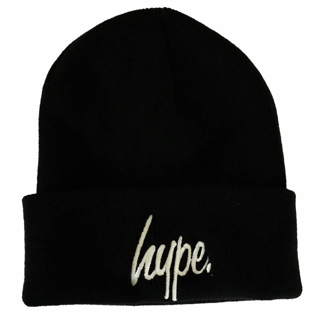 Hype Script Beanie Black/White
