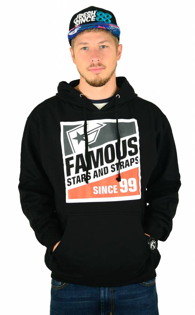 Famous Stars and Straps The Track Pullover Hoodie Black