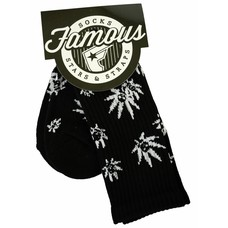 Famous Stars and Straps Fam Grown Socks Black/White