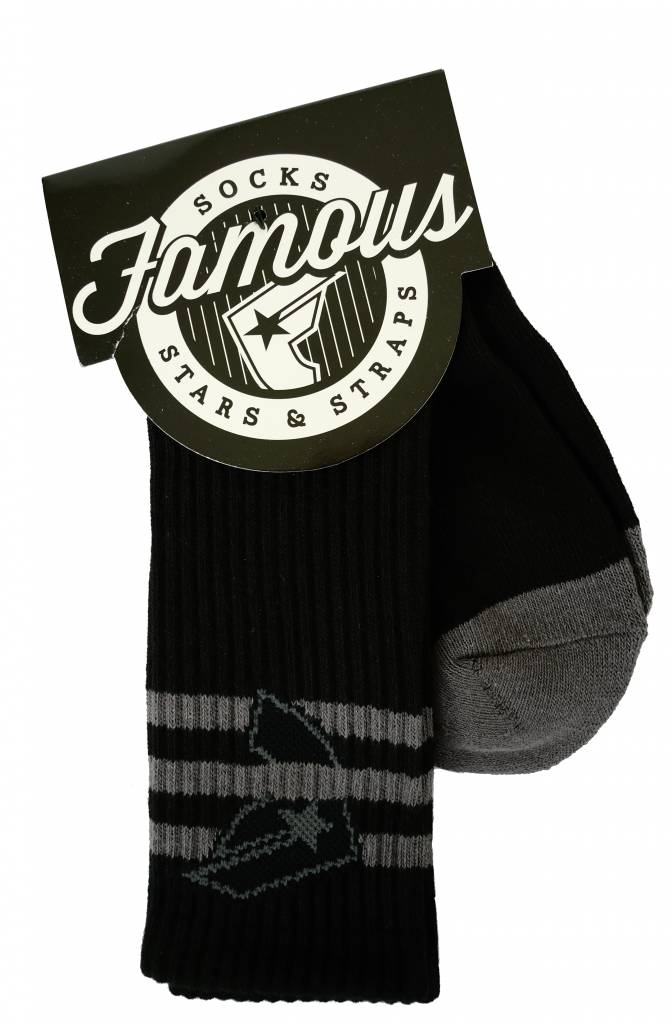 Famous Stars and Straps Strapped Socks Black/Charcoal