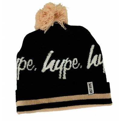 Hype Varsity Logo Pom Beanie Black/White