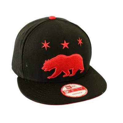 Famous Stars and Straps Grizzly Star Snapback Cap Cardinal/Black