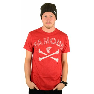 Famous Stars and Straps Guilty Bones Premium T-Shirt Red / Heather