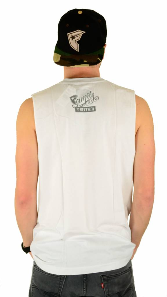 Famous Stars and Straps Twitch Stars and Bars Tank Top White