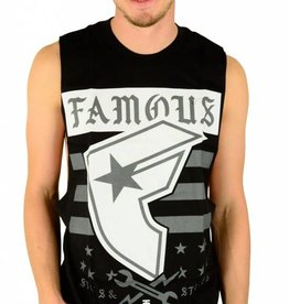 Famous Stars and Straps Twitch Stars and Bars Tank Top Black