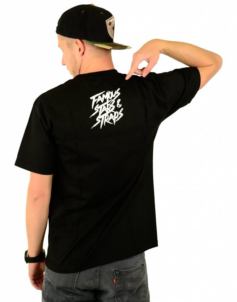 Famous Stars and Straps Streaker T-Shirt Black