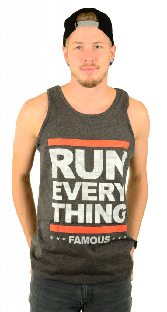 Famous Stars and Straps Run Everything Tank Top Charcoal Heather