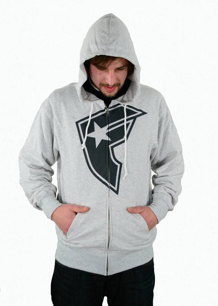 Famous Stars and Straps OG Boh Zip Hood Heather/Grey