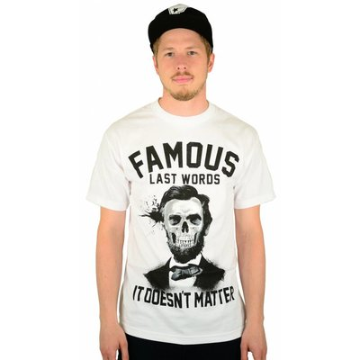 Famous Stars and Straps Last Words T-Shirt White
