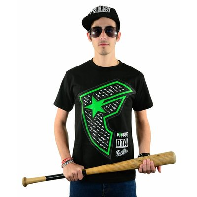 Famous Stars and Straps Gunshow Boh T-Shirt Black/Lime