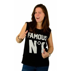 Famous Stars and Straps Game Over Muskel T-Shirt Black