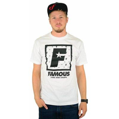Famous Stars and Straps F Flat Squared T-Shirt White/Black