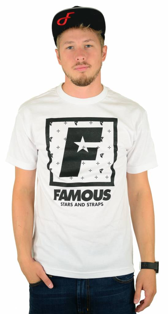 Famous Stars and Straps F Flat Squared T-Shirt White/Black