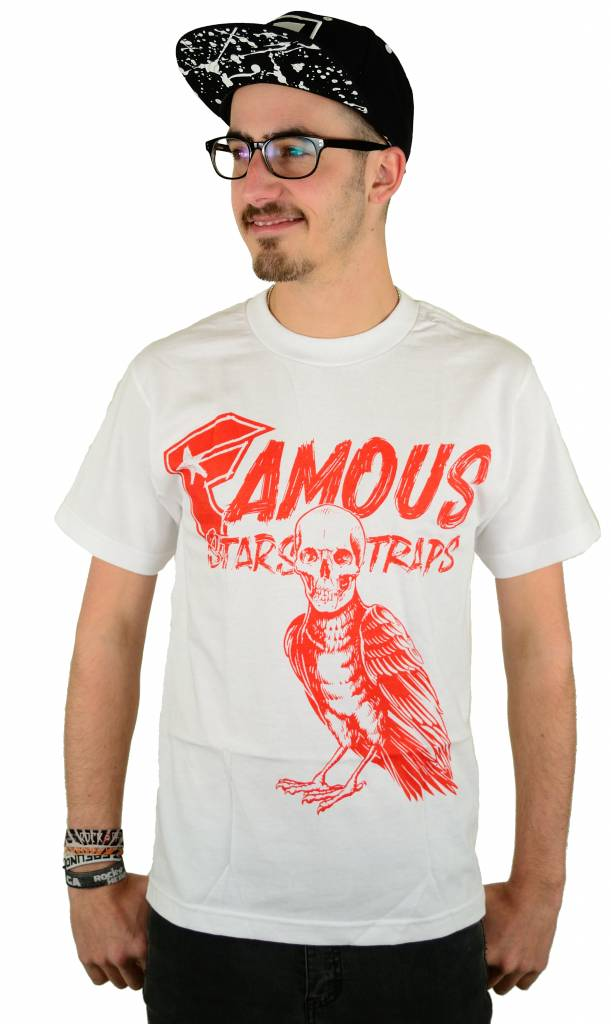 Famous Stars and Straps Death Crow T-Shirt White