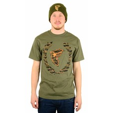 Famous Stars and Straps Camo Boh Wreath T-Shirt Military Green/Orange/Tiger