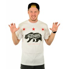 Famous Stars and Straps Calibear Steppin T-Shirt White