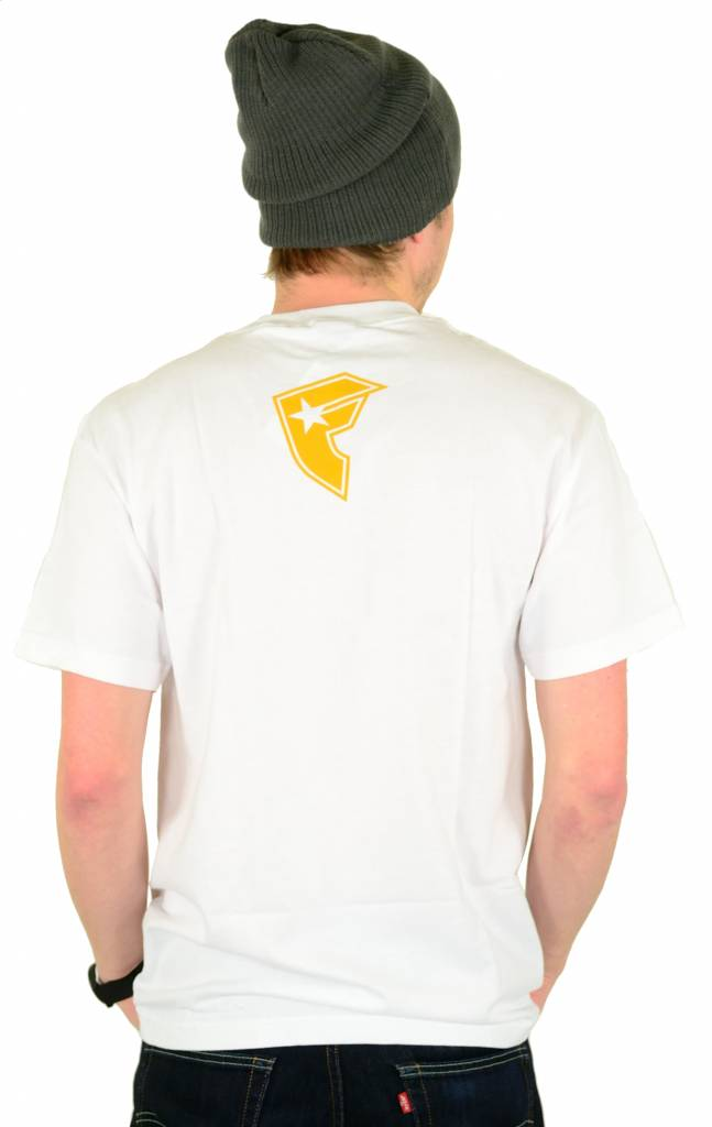 Famous Stars and Straps Busting Caps T-Shirt White