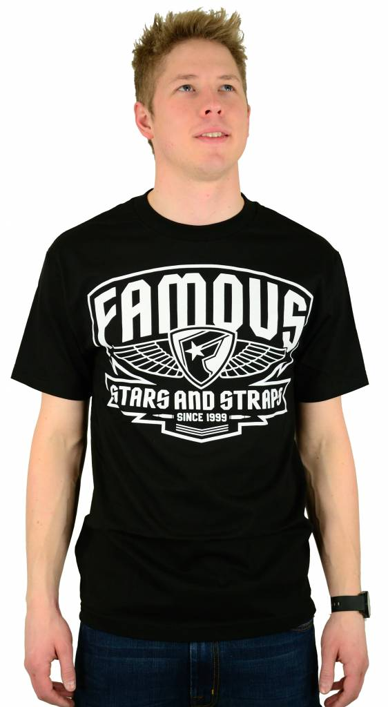 Famous Stars and Straps Brigade Patch T-Shirt Black/White