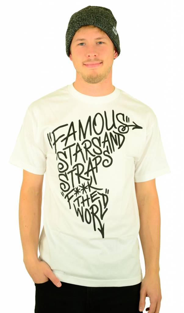 Famous Stars and Straps Boh FTW T-Shirt White/Black