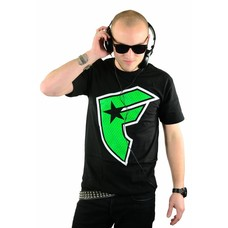 Famous Stars and Straps Boh Camp T-Shirt Black/Lime