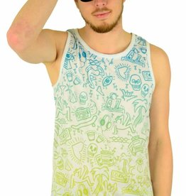 Famous Stars and Straps Beach Daze Tank Top White