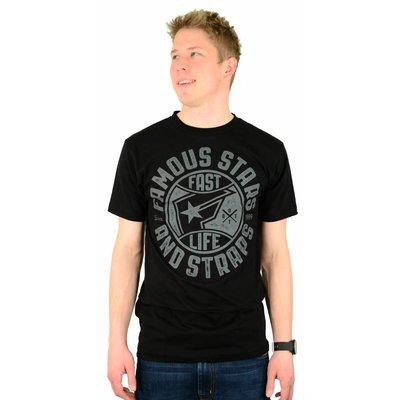 Famous Stars and Straps Bad News Crew Premium T-Shirt Black/Grey