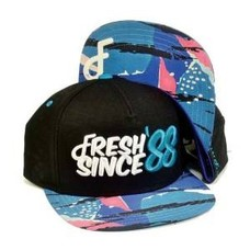 Flat Fitty 88 to Infinity Snapback Cap Black