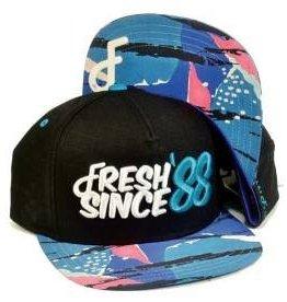 Flat Fitty 88 to Infinity Snapback Cap Black