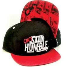 Flat Fitty Humble Snapback Cap Black/Red