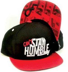 Flat Fitty Humble Snapback Cap Black/Red