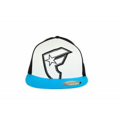 Famous Stars and Straps Giant Hollow Boh Flex Fit Cap White/Black/Turquoise