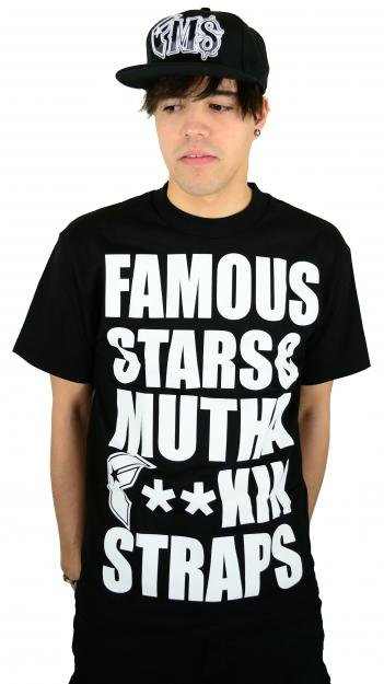 Famous Stars and Straps MFS T-Shirt Black/White