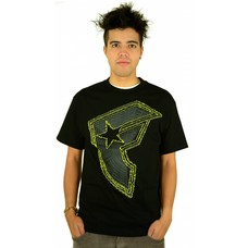 Famous Stars and Straps Skeezy T-Shirt Black/Yellow