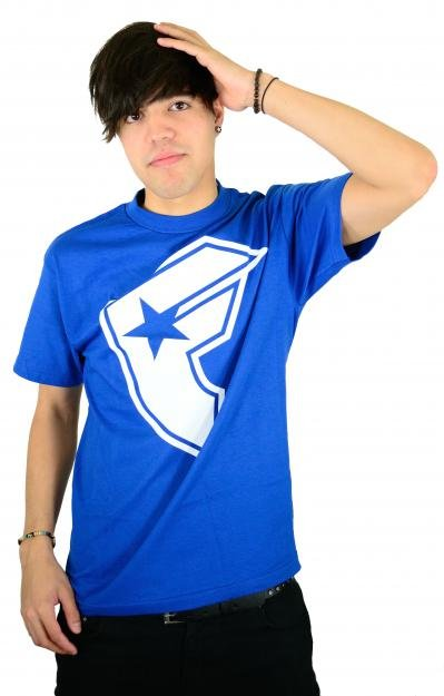 Famous Stars and Straps OG Boh T-Shirt Royal/White