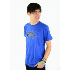 Atticus Clothing Birdshot Basic T-Shirt Blue