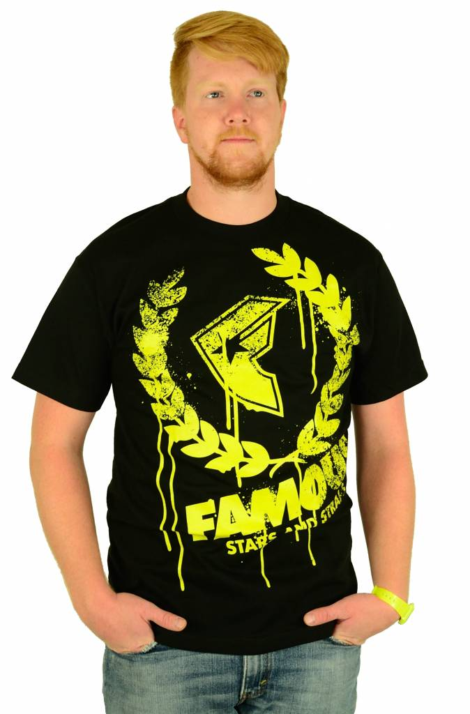 Famous Stars and Straps Breakdown T-Shirt Black/Yellow