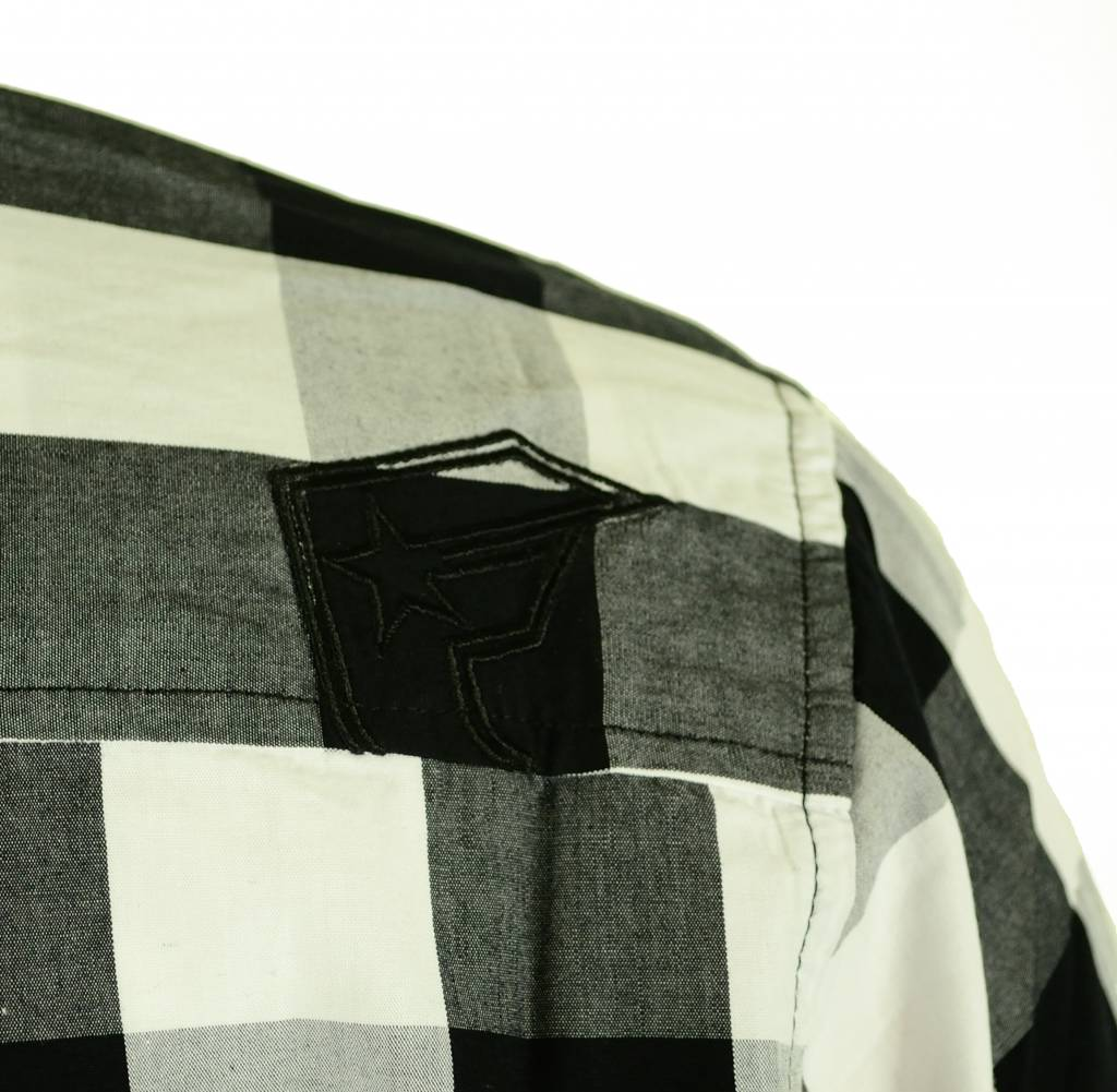 Famous Stars and Straps In Control L/S Woven Shirt Black/White