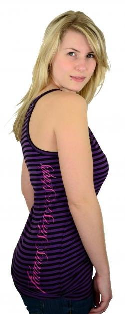 Famous Stars and Straps Arrow Boh Striped Lucky Tank Black/Purple