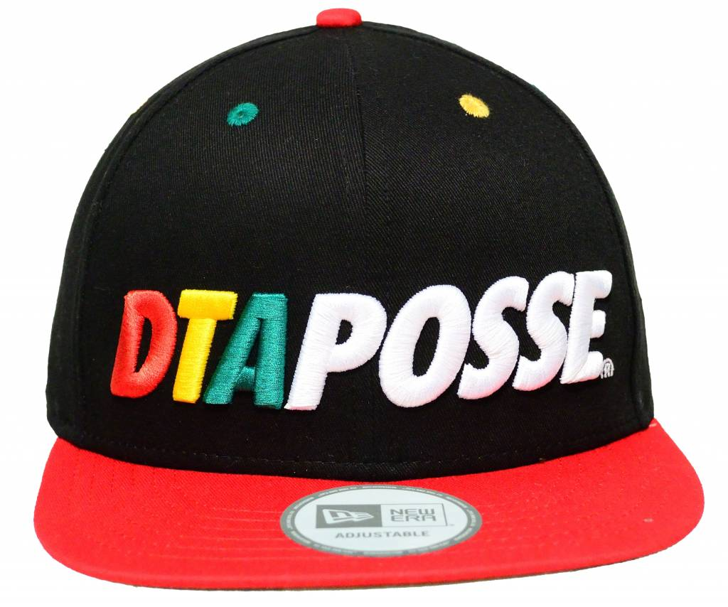 DTA Rogue Status Bold Posse New Era Snapback Cap Black/Rasta