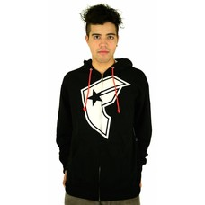Famous Stars and Straps OG Boh Zip Hoodie Black/White