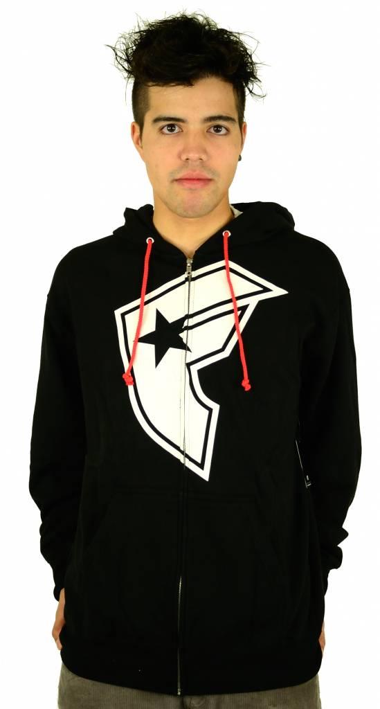 Famous Stars and Straps OG Boh Zip Hoodie Black/White