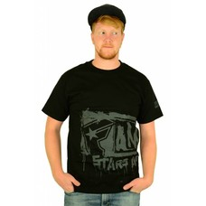 Famous Stars and Straps Big Crush T-Shirt Black/Grey