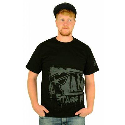 Famous Stars and Straps Big Crush T-Shirt Black/Grey
