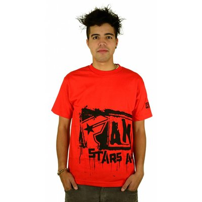 Famous Stars and Straps Big Crush T-Shirt Red/Black