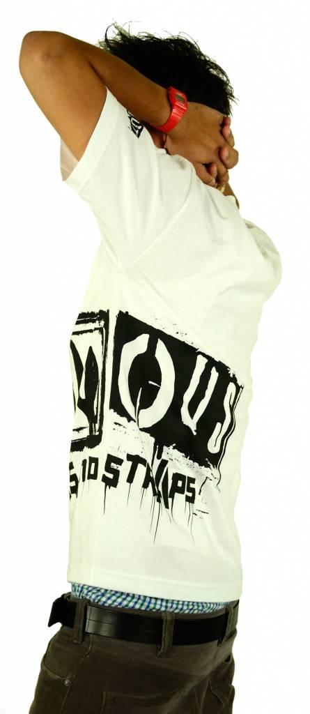Famous Stars and Straps Big Crush T-Shirt White/Black