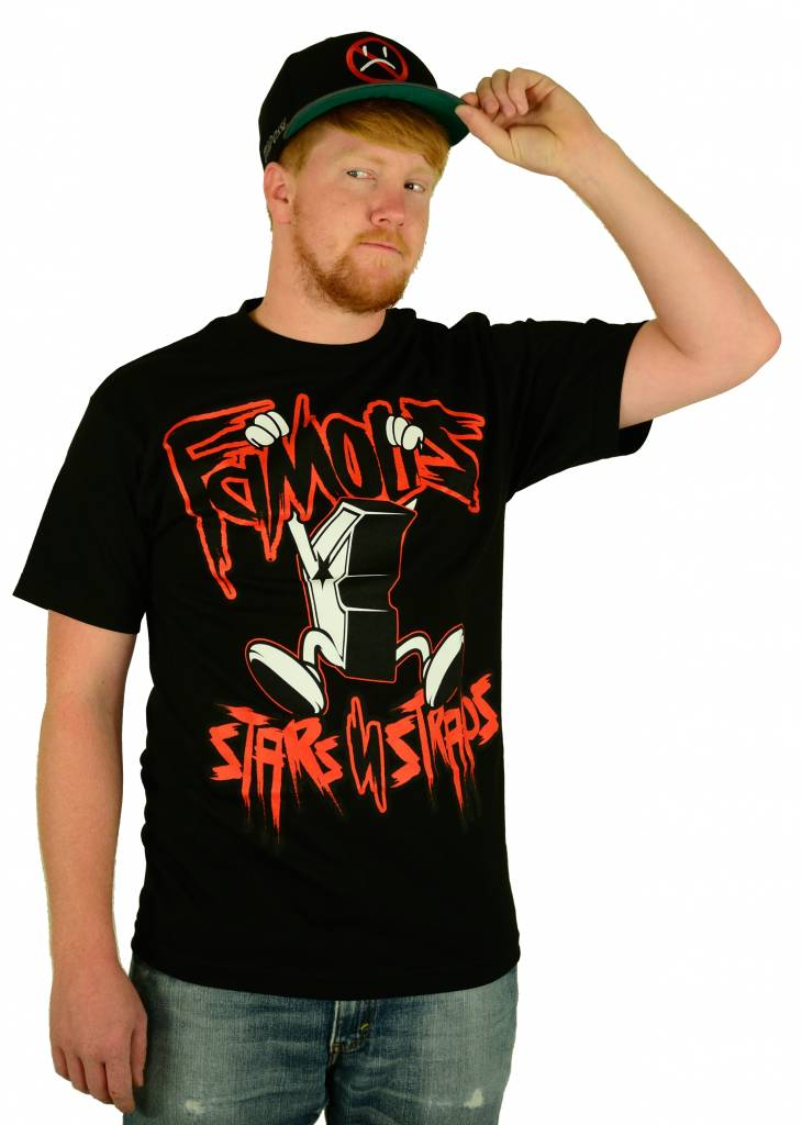 Famous Stars and Straps Hanging Boh T-Shirt Black/Red